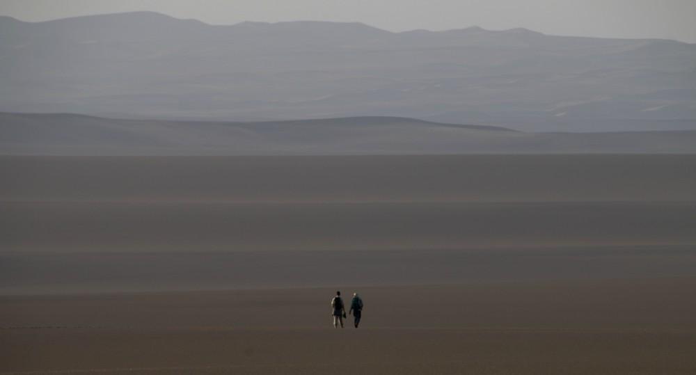 Contemplating the vastness of the desert