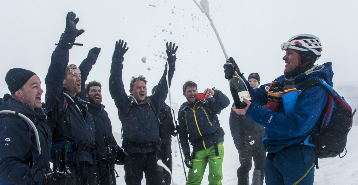 Elated, the teams hit their target elevation – the height of the world's highest mountain © Adventure In Focus
