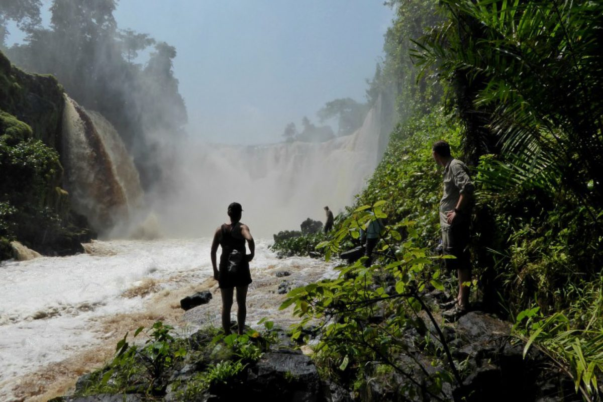 Checking out Kongou Falls © Paul Taylor