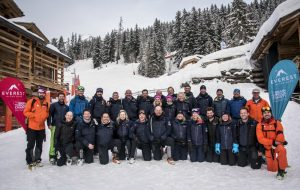 Teams from a number of international banking and insurance firms come together for Everest in the Alps 2018. © Adventure in Focus
