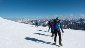 Expedition leader Dave Luke leads a team to an unclimbed Mongolian summit © Secret Compass