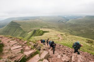 Climbing Pen Y Fan as part of the Secret Compass UK Adventure Weekend in the Brecon Beacons © Secret Compass