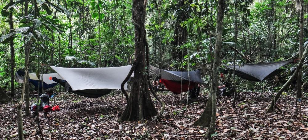 This is camp deep in Panama's Darien Gap