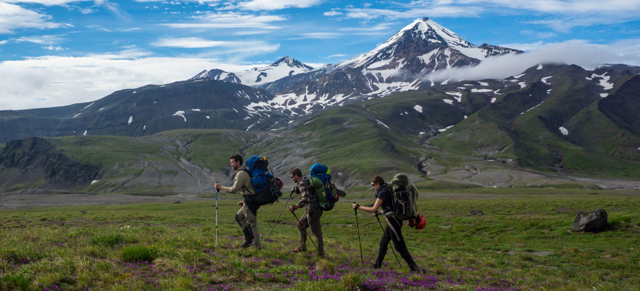 Hiking on the Kamchatka Peninsula © Secret Compass