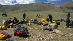 Packing up in preparation for a self-supported mission in Mongolia © Secret Compass