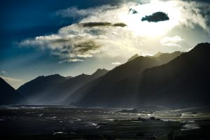 Moody landscape of the Pamir mountains in Aghanistan's Wakhan Corridor