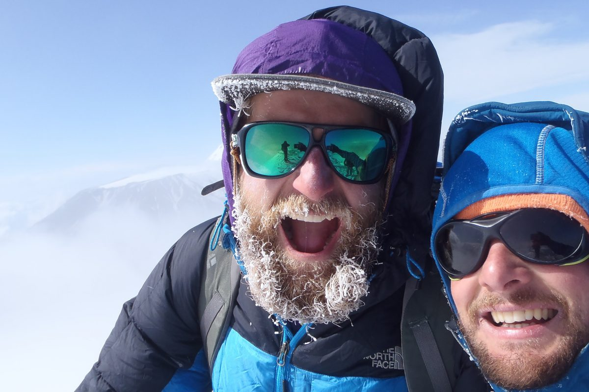 Viktor with Secret Compass leader Phil de-Beger on expedition in Kamchatka