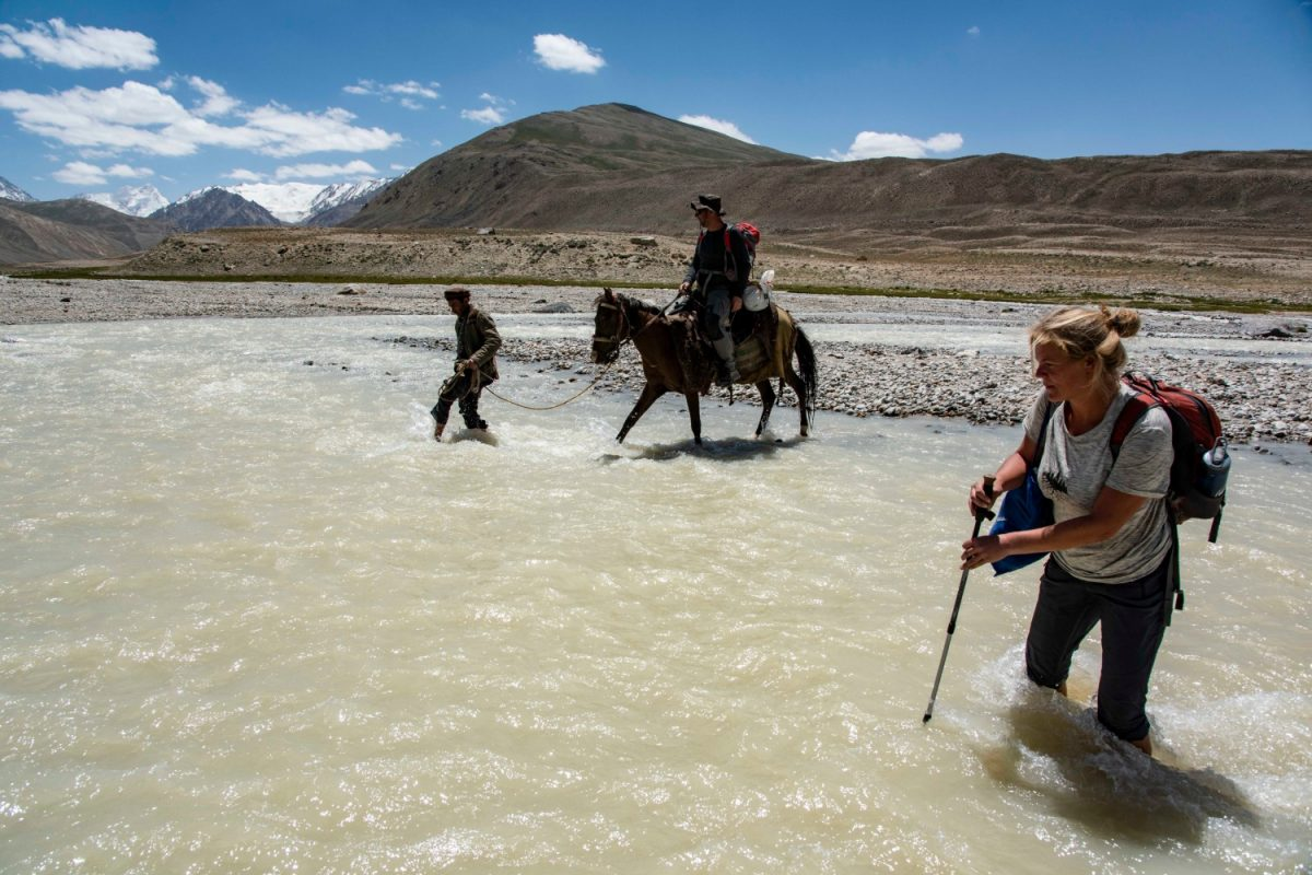 Wakhan river crossing