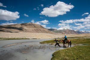 River Crossing in Afghanistan's the Wakhan Corridor