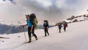Matt leads the 2018 alpine skills course in Georgia © Martin Hefti / Secret Compass